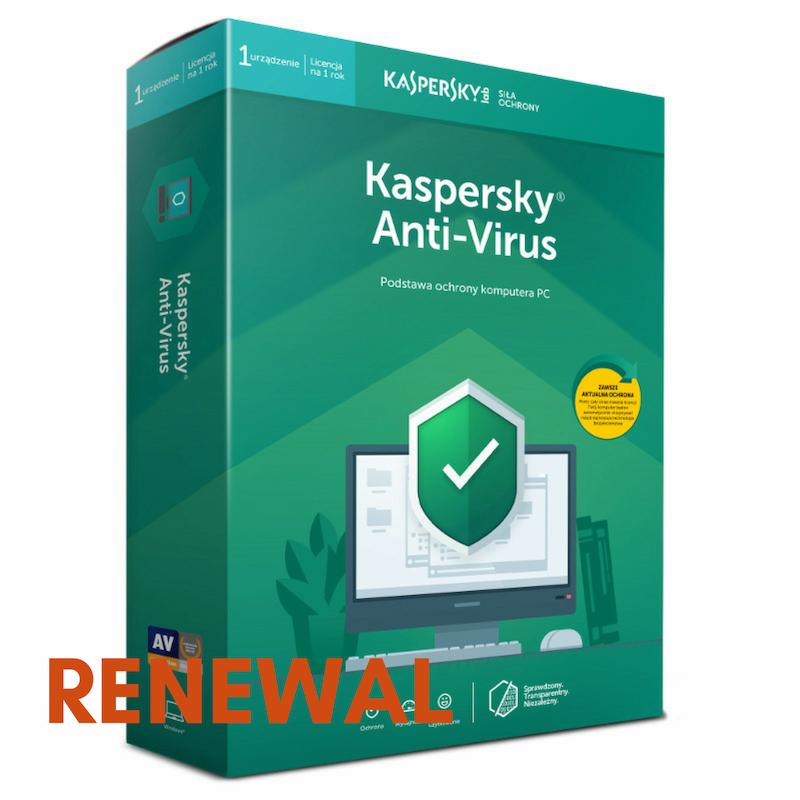 Odnowienie licencji Kaspersky Anti-Virus