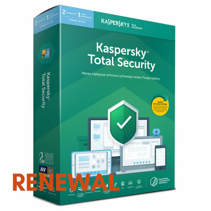 Odnowienie licencji Kaspersky Total Security