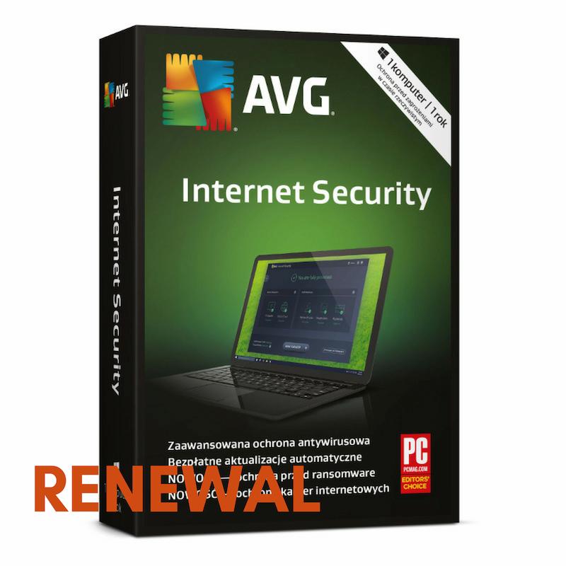 Odnowienie licencji AVG Internet Security