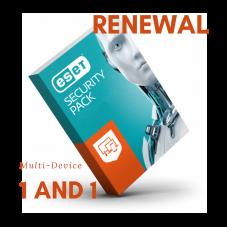 Odnowienie licencji Eset Security Pack 1 and 1